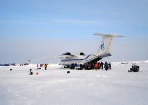 Anatov-74 at Base Camp Barneo
