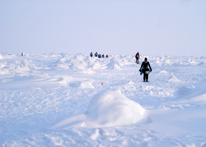 BBC filming at the North Pole