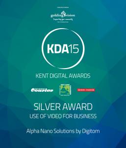 Kent Digital Awards 2015 Silver