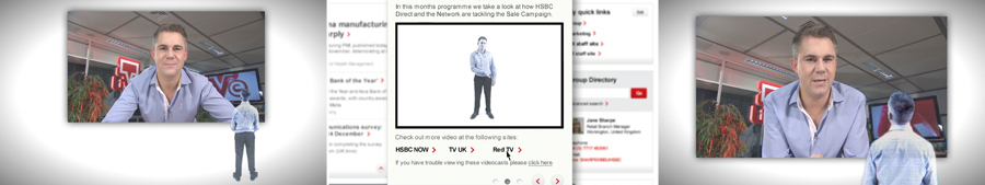 Live TV: HSBC Now | Studio production about new the new intranet site