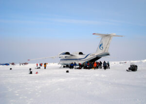 Unloading the AN-74 at Base Camp Barneo