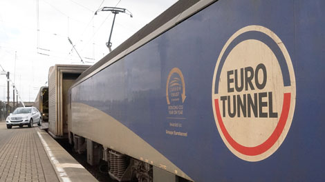 Eurotunnel disembarking passengers