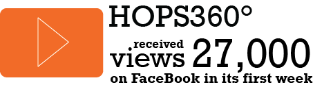 HOPS360° received 27,000 views on Facebook in its first week