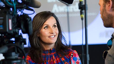 2019 Host Nina Hossain with Digitom Founder & Creative Director Tom Chown