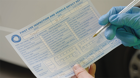 First Use Inspection Card